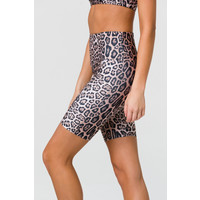 Onzie High Rise Biker Short - Leopard