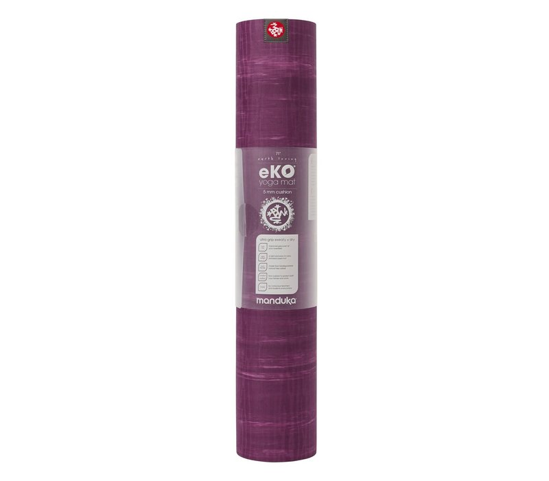 Manduka eKO Yoga Mat 180cm 61cm 6mm - Acai Marbled