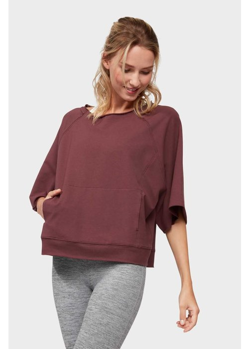 Manduka Manduka Resolution Raglan Pullover - Dark Chestnut