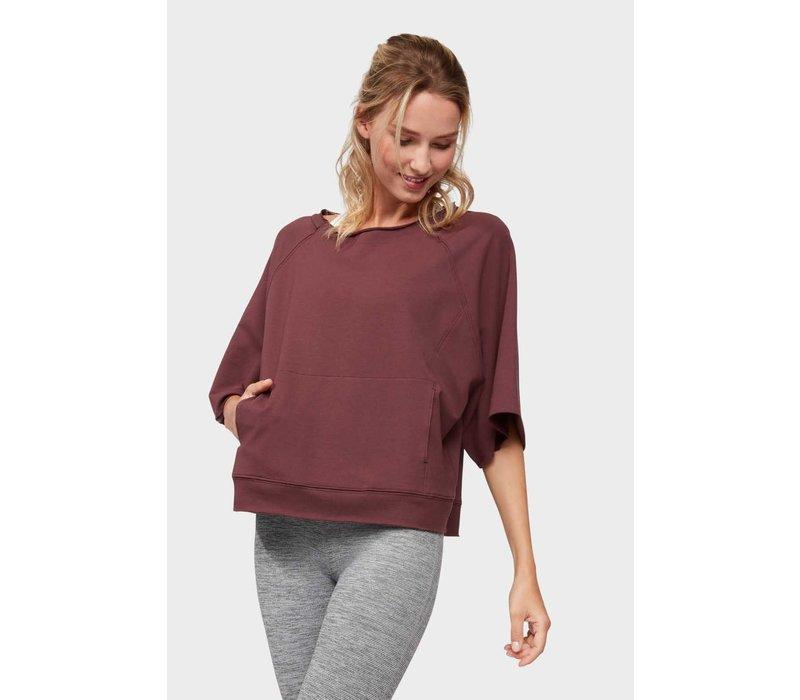 Manduka Resolution Raglan Pullover - Dark Chestnut