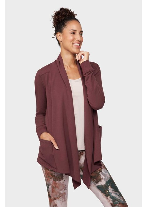 Manduka Manduka Resolution Pocket Cardigan - Dark Chestnut