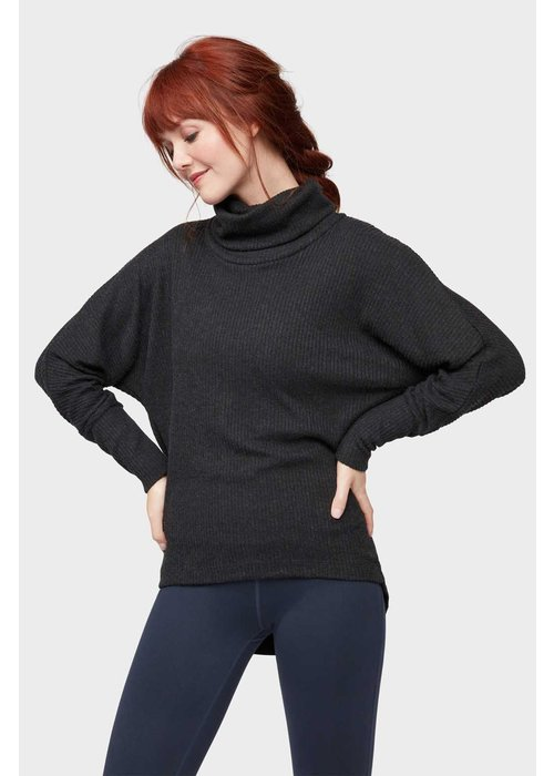 Manduka Manduka Cowl Dolman Top - Dark Granite Heather