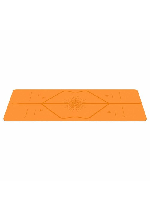 Liforme Liforme Happiness Yogamatte 185cm 68cm 4.2mm - Vibrant Orange