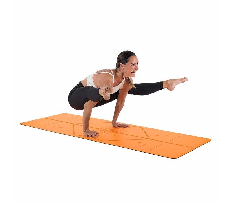 Liforme Happiness Yoga Mat 185cm 68cm 4.2mm - Vibrant Orange