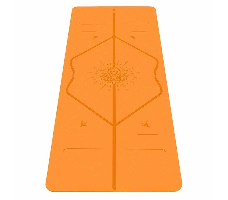 Liforme Happiness Yogamat 185cm 68cm 4.2mm - Vibrant Orange