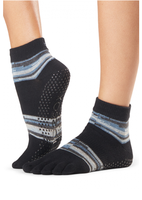 Toesox Toesox Yoga Sokken Enkelhoogte Dichte Tenen - Duet