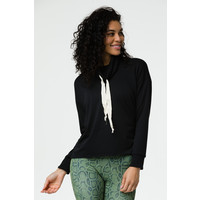 Onzie Cowl Neck Top - Black