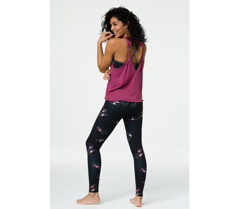 Onzie High Rise Legging - Pink Flamingo