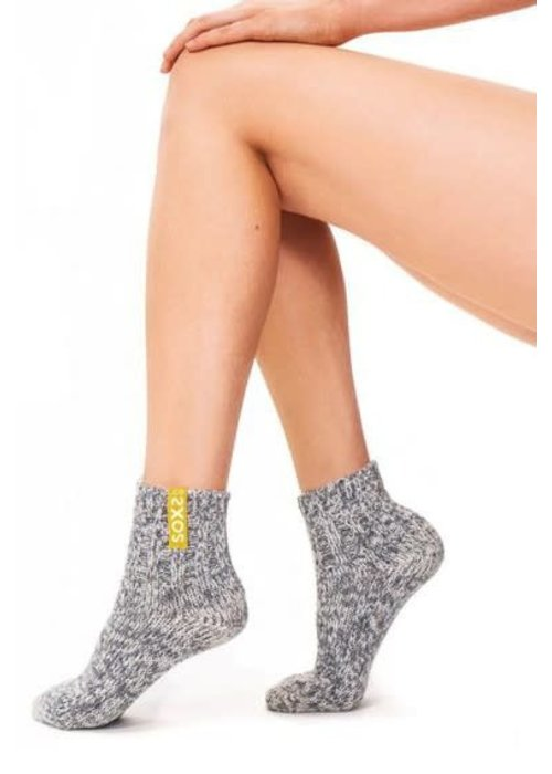 Soxs Soxs Women's Anti Slip Socks - Grey/Aspen Gold Low