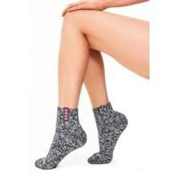 Soxs Women's Socks - Dark Grey/Barbados Cherry Low