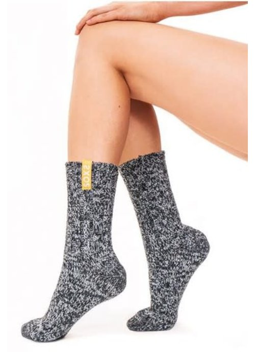 Soxs Soxs Women's Socks - Dark Grey/Mellow Yellow Half High