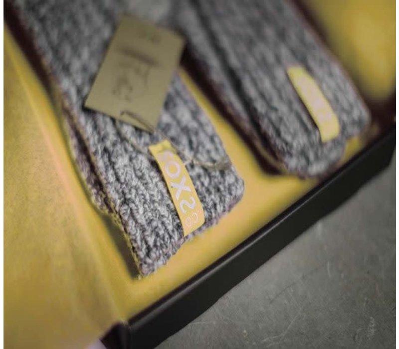 Soxs Dames Sokken - Dark Grey/Mellow Yellow Half High