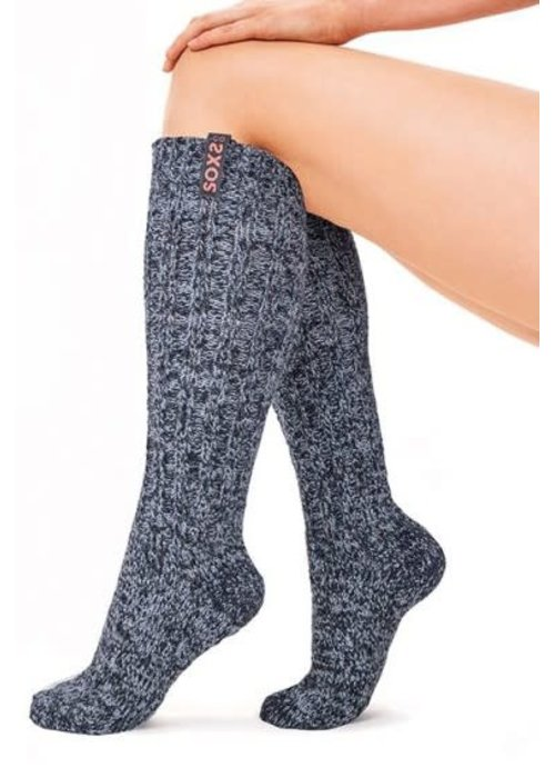 Soxs Soxs Dames Sokken - Dark Grey/Sparkling Cupper Knee High