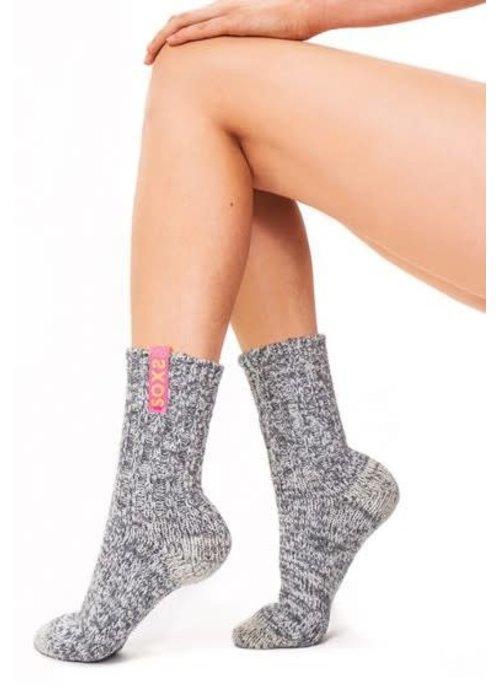Soxs Soxs Women's Socks - Grey/Bird Of Paradise Half High