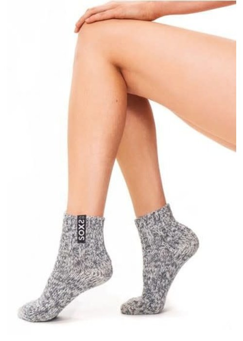 Soxs Soxs Women's Socks - Grey/Jet Black Low