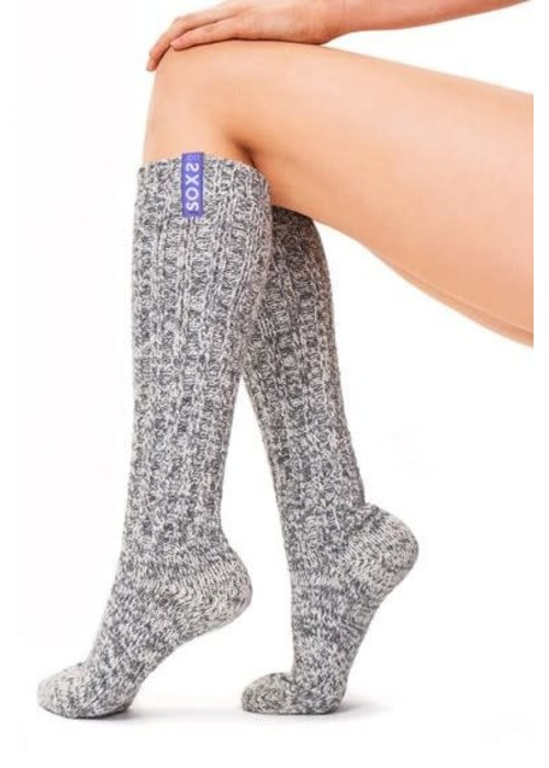 Soxs Soxs Dames Sokken - Grey/Lavendel Knee High