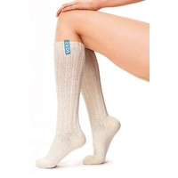 Soxs Dames Sokken - Off White/Sage Green Knee High