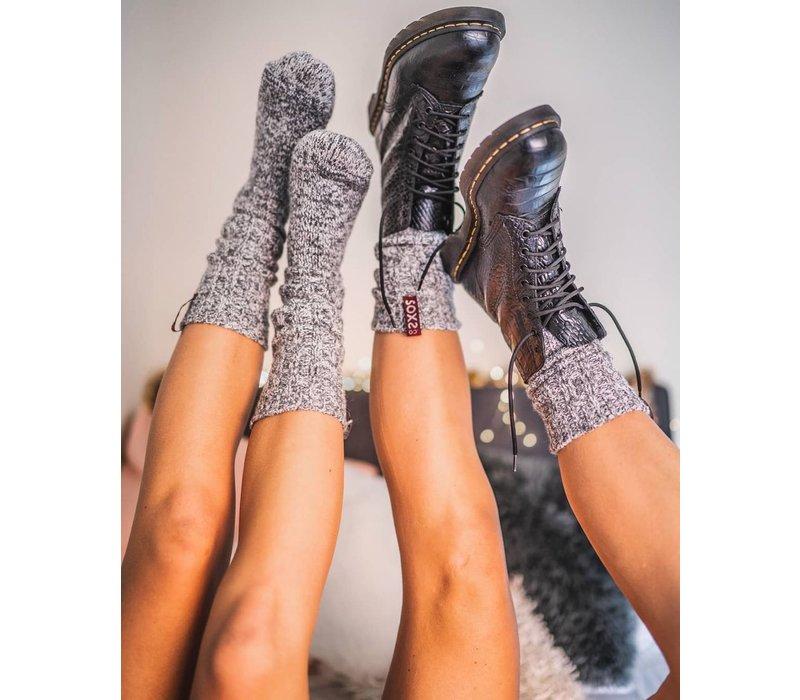 Soxs Women's Socks - Grey/Lavendel Knee High