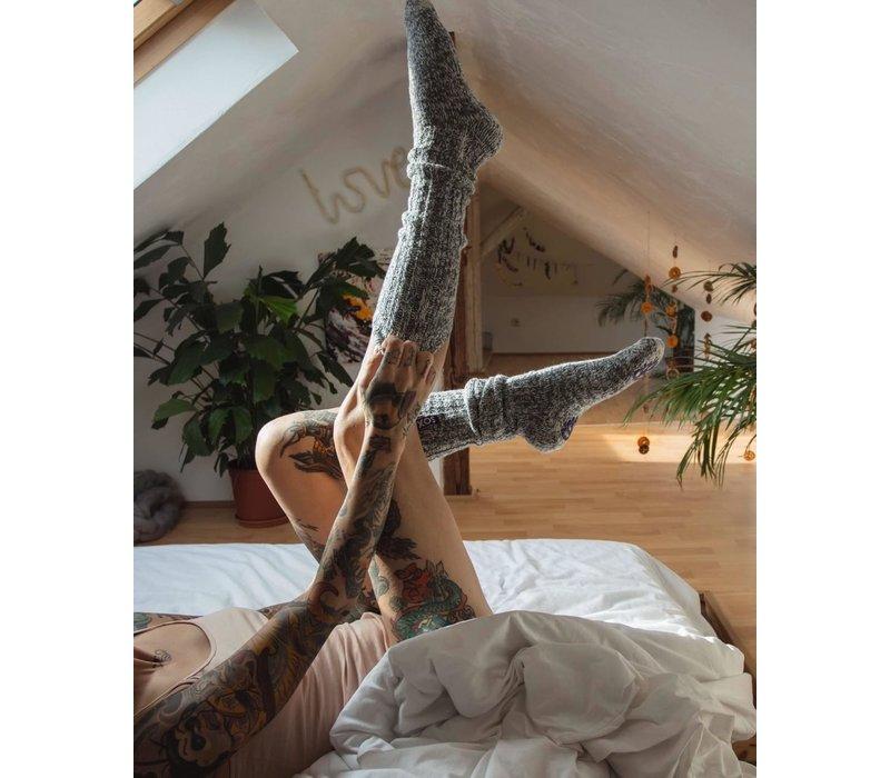 Soxs Women's Socks - Dark Grey/Sparkling Cupper Knee High