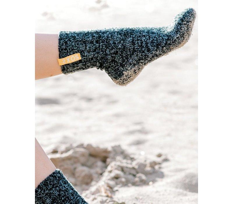 Soxs Women's Socks - Dark Grey/Mellow Yellow Half High
