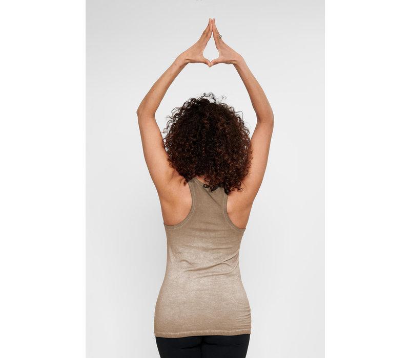 Urban Goddess Om Yoga Tank Top - Off Earth