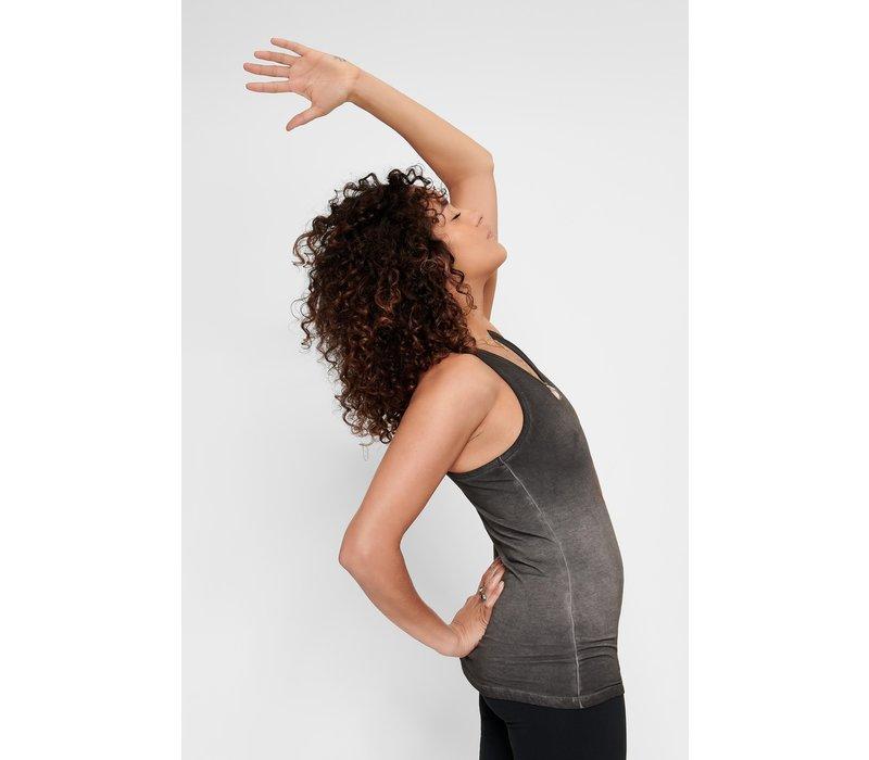 Urban Goddess Om Yoga Tank Top - Off Black