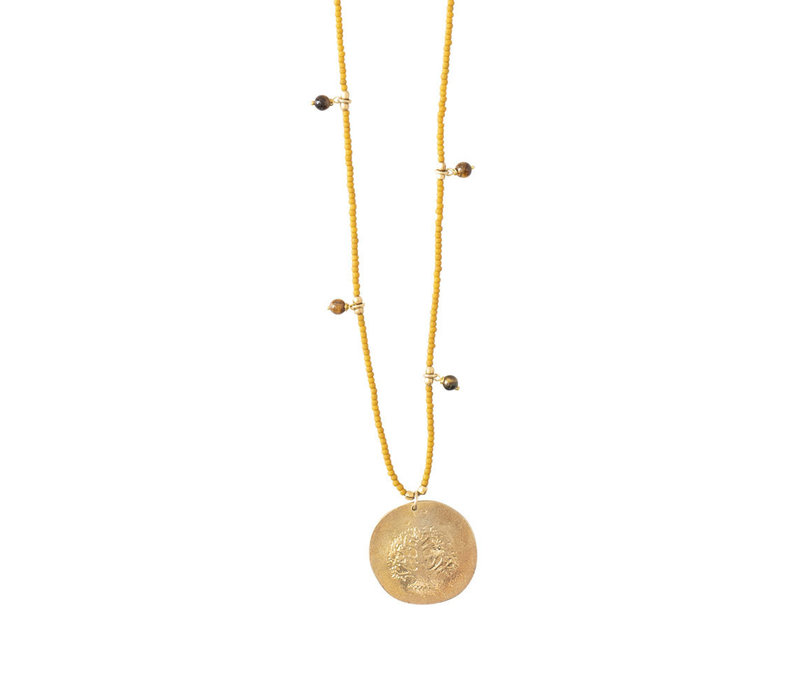 A Beautiful Story Radiant Gouden Ketting - Tijgeroog