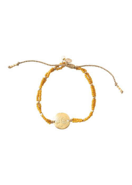A Beautiful Story A Beautiful Story Gratitude Gold Bracelet - Tiger Eye