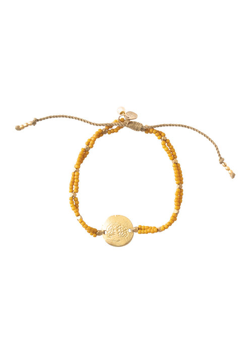 A Beautiful Story A Beautiful Story Gratitude Gouden Armband - Tijgeroog