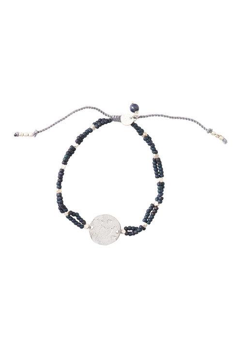 A Beautiful Story A Beautiful Story Gratitude Silber Armband - Lapis Lazuli
