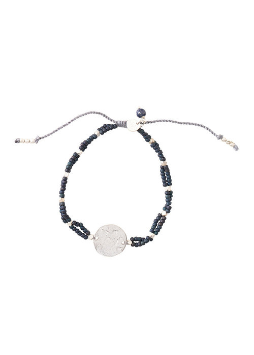 A Beautiful Story A Beautiful Story Gratitude Silver Bracelet - Lapis Lazuli
