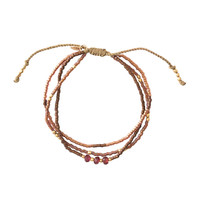 A Beautiful Story Gentle Gouden Armband - Granaat