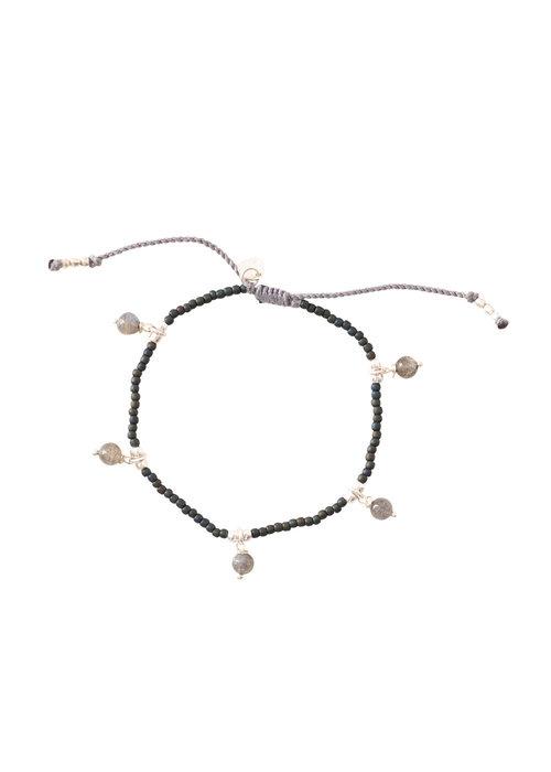 A Beautiful Story A Beautiful Story Dreamy Silver Bracelet - Labradorite