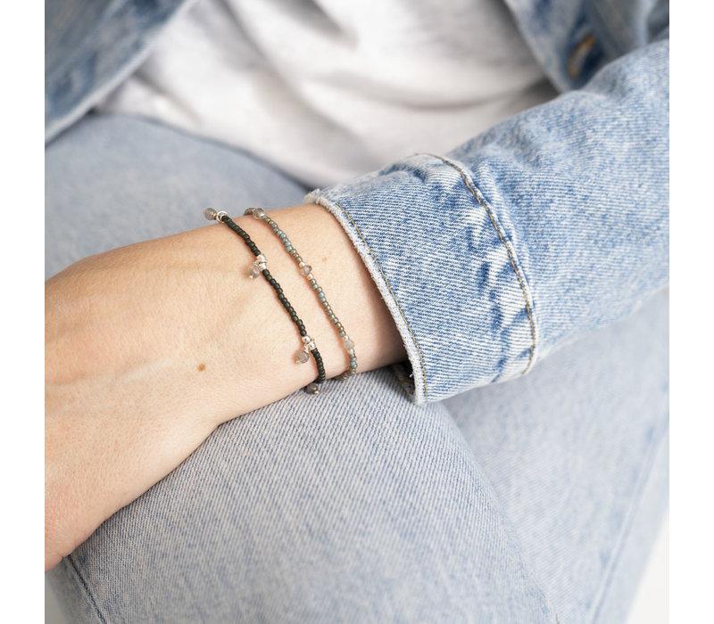 A Beautiful Story Dreamy Zilveren Armband - Labradoriet