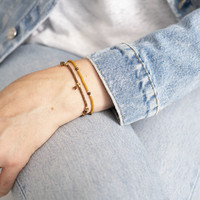 A Beautiful Story Dreamy Gouden Armband - Tijgeroog
