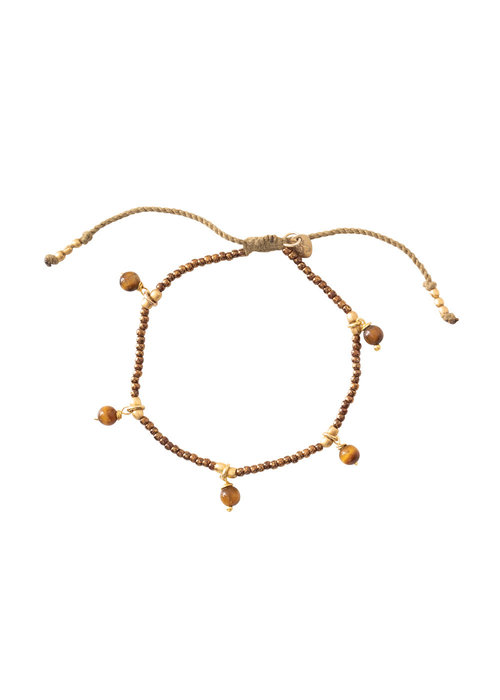 A Beautiful Story A Beautiful Story Dreamy Gold Bracelet - Tiger Eye