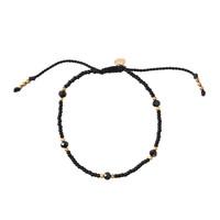 A Beautiful Story Friendly Gold Bracelet - Black Onyx