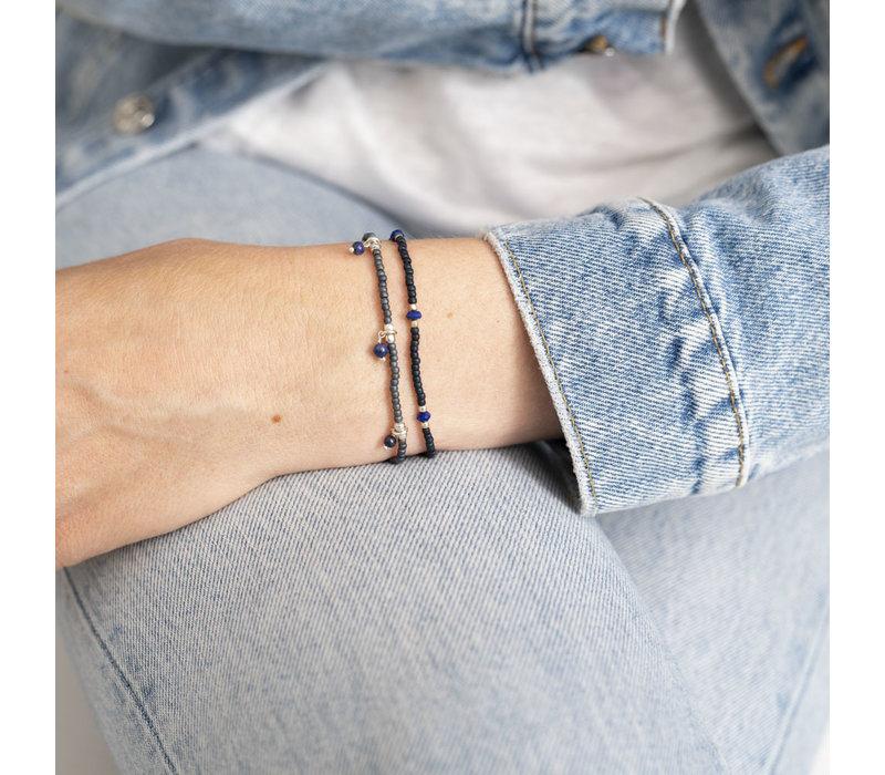 A Beautiful Story Friendly Zilveren Armband - Lapis Lazuli