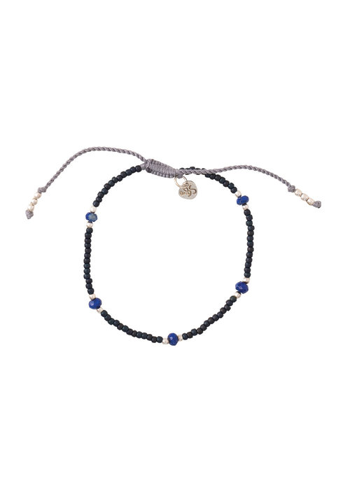 A Beautiful Story A Beautiful Story Friendly Zilveren Armband - Lapis Lazuli