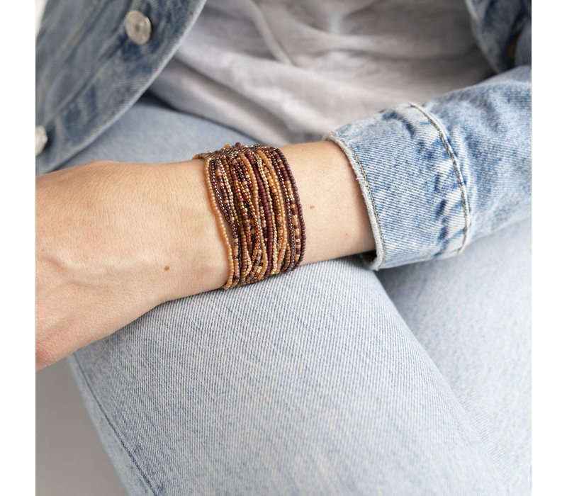 A Beautiful Story Brilliant Gouden Armband - Granaat