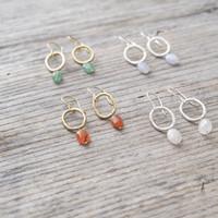 A Beautiful Story Graceful Silver Earrings - Rose Quartz