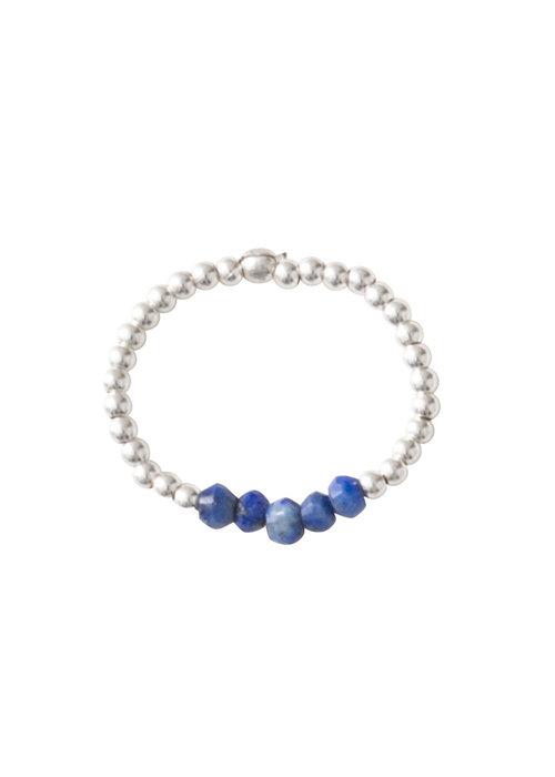 A Beautiful Story A Beautiful Story Beauty Zilveren Ring - Lapis Lazuli