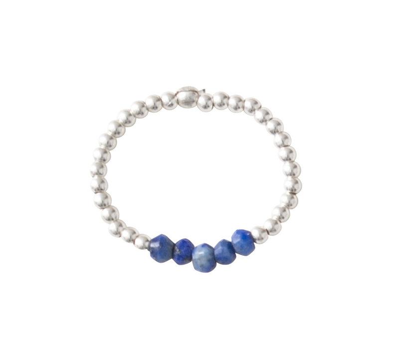 A Beautiful Story Beauty Silber Ring - Lapis Lazuli