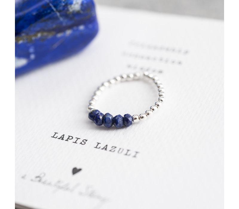 A Beautiful Story Beauty Silver Ring - Lapis Lazuli