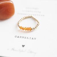 A Beautiful Story Beauty Goldener Ring - Karneol