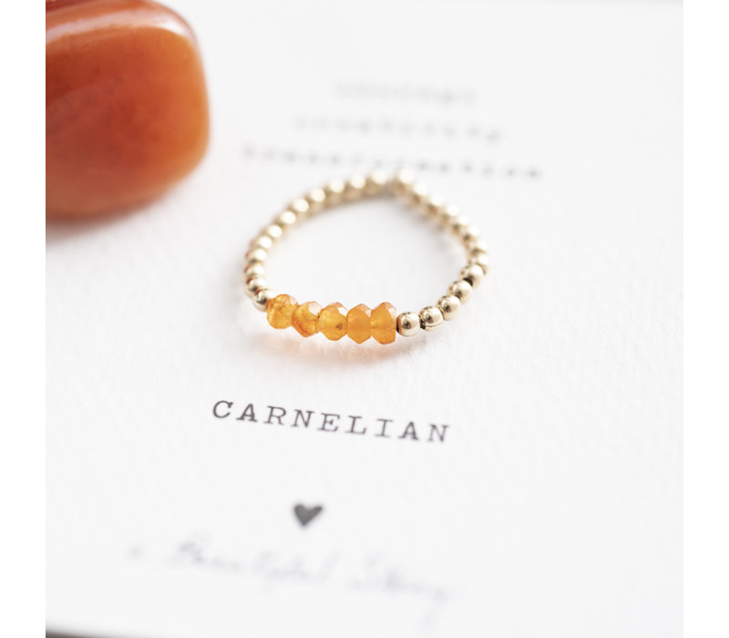 A Beautiful Story Beauty Gold Ring - Carnelian