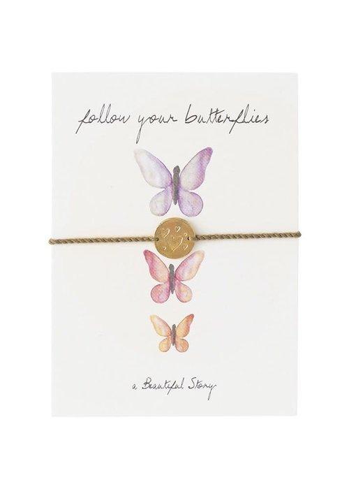 A Beautiful Story A Beautiful Story Sieraden Ansichtkaart - Butterflies
