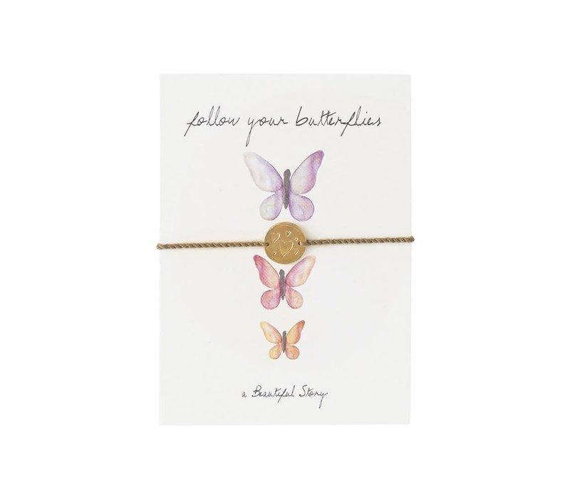 A Beautiful Story Schmuck Karte - Schmetterlinge