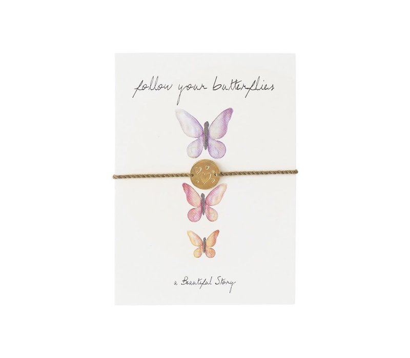 A Beautiful Story Sieraden Ansichtkaart - Butterflies