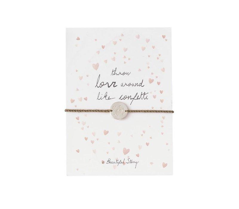 A Beautiful Story Schmuck Karte - Konfetti